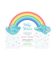 bright baby shower invitation vector image