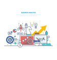business analysis plan creation strategy planning vector image vector image