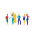 business meeting - flat design style colorful vector image vector image