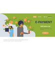 business people using mobile e-payment application vector image vector image