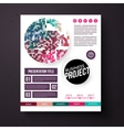 Business Project template in retro colors vector image vector image