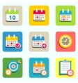 calendar and event icons vector image vector image