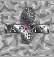 camouflage army boot vector image vector image