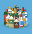 cocktail party alcohol bottles vector image