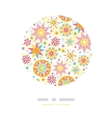 Colorful Christmas Stars Circle Decor Pattern vector image vector image