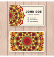 creative useful business name card design vector image vector image