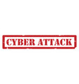 cyber attack stamp vector image