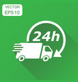 delivery truck 24h icon business concept 24 hours vector image vector image