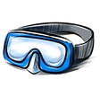 Diving goggles mask fast sketch vector image