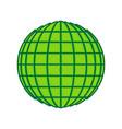 earth globe sign lemon scribble icon on vector image vector image