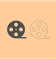 film strip dark grey set icon vector image vector image