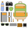 flat design concept outfit accessories vector image vector image