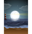 Fullmoon and beach vector image vector image