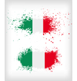 Grunge italian ink splattered flag vector image