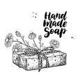 Handmade natural soap hand drawn