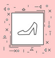 high heel shoes icon thin line in pink frame vector image