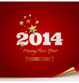 holidays design - 2014 new year greetings vector image vector image