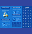 industry infographic template elements and icons vector image vector image