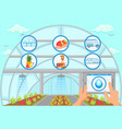 irrigation system concept vector image vector image