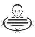 Isolated Prisoner Grainy Texture Icon vector image