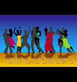 latino dancers vector image
