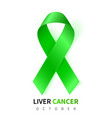 liver cancer awareness month realistic emerald vector image vector image