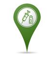 location vaccine icon vector image