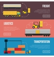 Logistics and transportation banner set vector image vector image