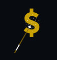 magic wands with dollar currency shape vector image vector image