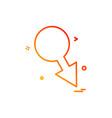 male icon design vector image vector image
