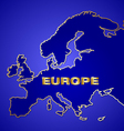 map europe vector image vector image