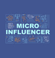 micro influencers word concepts banner vector image vector image