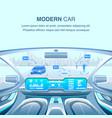 modern car driverless view vector image
