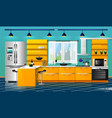 modern kitchen interior vector image vector image