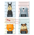 Mugshot of cute dogs holding a banner 4 vector image