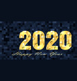 new year 2020 background vector image