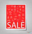 paper sale banner on gray background vector image vector image