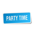 party time square sticker on white vector image vector image