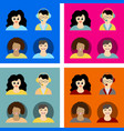 people icon set in trendy flat style isolated on vector image vector image