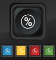 percentage discount icon symbol Set of five vector image vector image