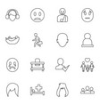 person icons vector image vector image