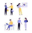 professional entrepreneurship flat vector image vector image