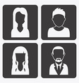 profiles design vector image