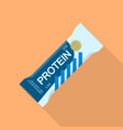 protein bar icon flat style vector image