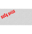 rock rules vector image