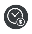 Round time is money icon vector image vector image