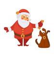 santa playing dog pet daily christmas life cartoon vector image vector image