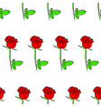seamless pattern from roses flowers of contour vector image vector image