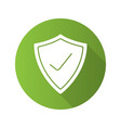 security check flat design long shadow icon vector image vector image