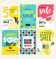 set mobile summer sale banners vector image vector image
